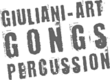Logo, Giuliani, art, gongs, percussion, Genève, Suisse.